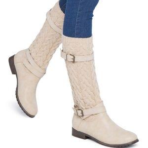 ShoeDazzle Nancie Cream US Women's 10M Boots